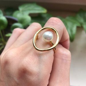 Pearl 14k Gold Filled Ring